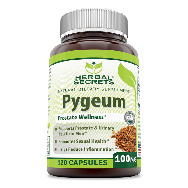 Herbal Secrets Pygeum Extract 100 Mg 120 Capsules - herbalsecrets