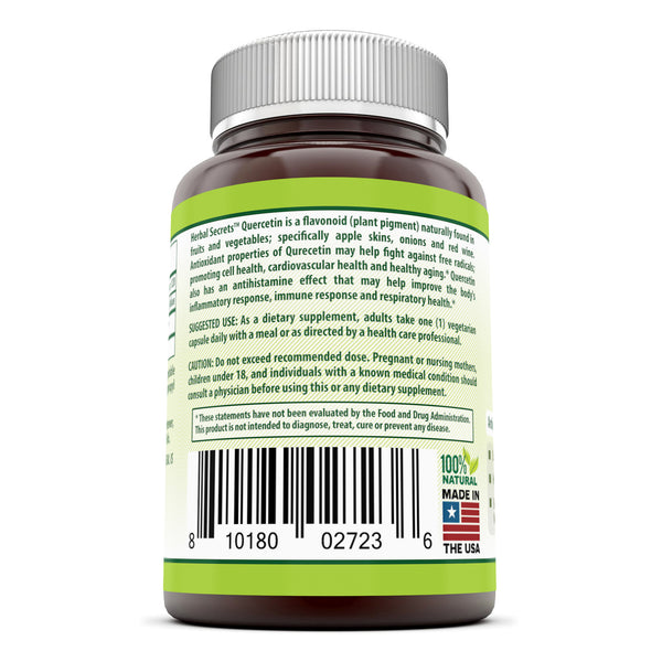 Herbal Secrets Quercetin 500 Mg 120 Vegetarian Capsules - herbalsecrets