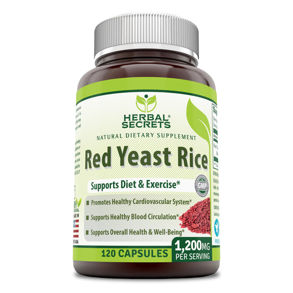 Herbal Secrets Red Yeast Rice 1200 Mg 120 Capsules - herbalsecrets