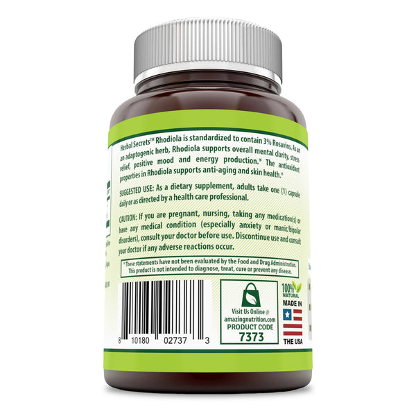 HERBAL SECRETS RHODIOLA 500 Mg 60 CAPSULES - herbalsecrets