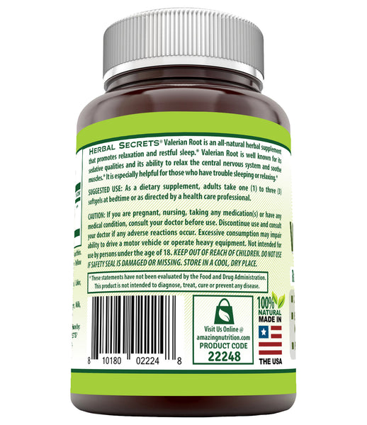 Herbal Secrets Valerion Root 1000 Mg 120 Softgels - herbalsecrets