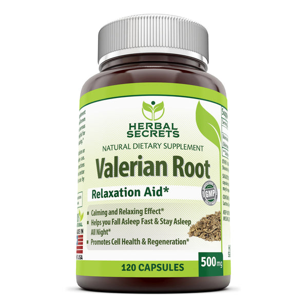 Herbal Secrets Valerian Root 500 Mg 120 Capsules - herbalsecrets