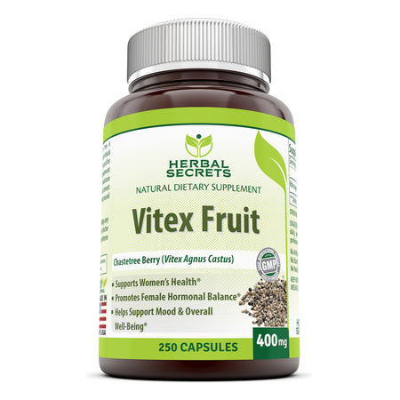 Herbal Secrets Vitex Fruit 400 Mg 250 Capsules - herbalsecrets