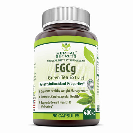 Herbal Secrets EGCG Green Tea Extract 400 Mg 90 Capsules - herbalsecrets