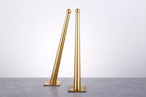 16'' Brass Tapered Bench Legs - ivadecorstudio