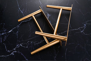 7 7/8'' Tapered Brass Cabinet Legs - ivadecorstudio