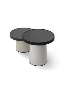 Thick Top Side Table -Low- - ivadecorstudio