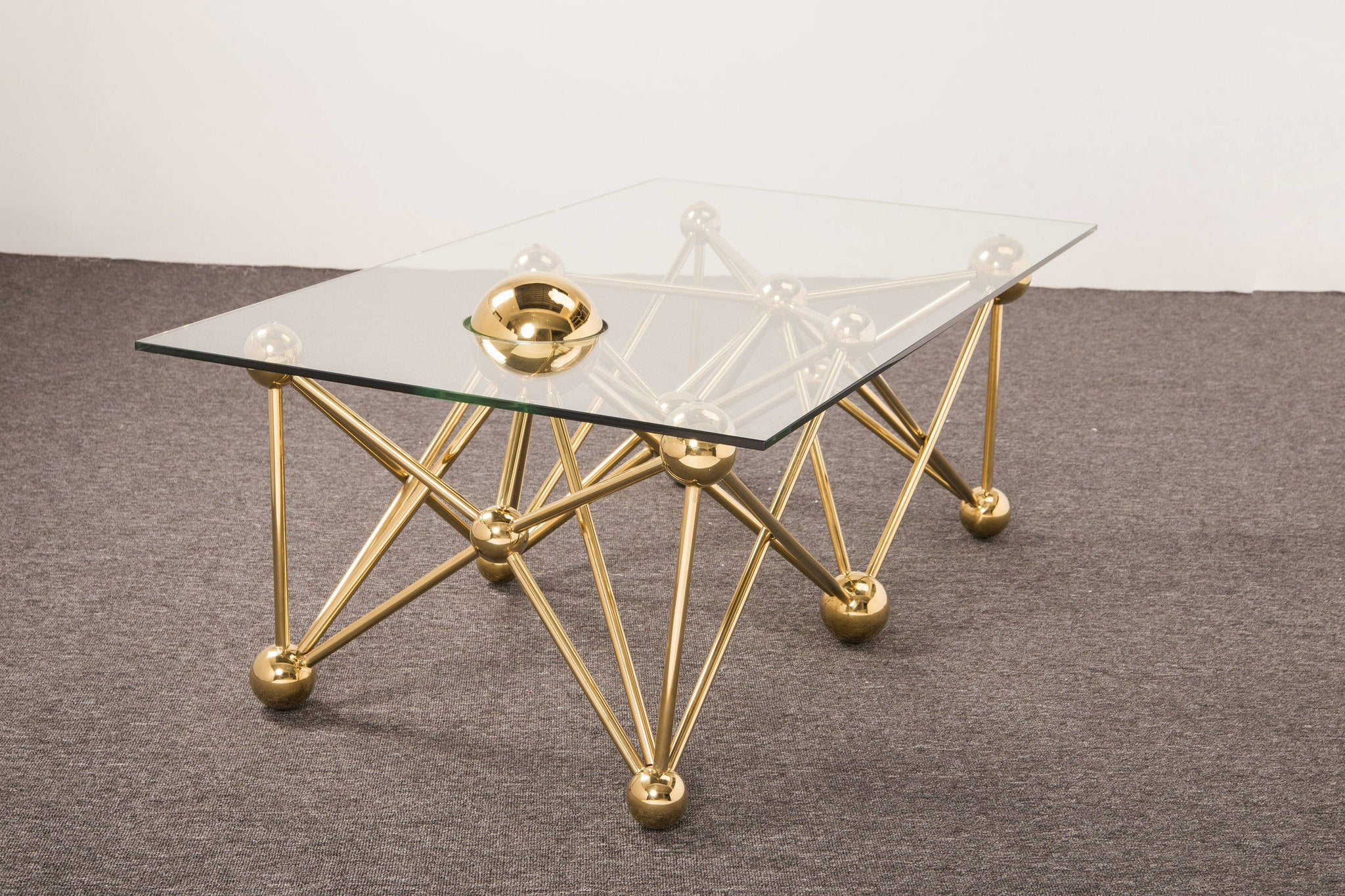 Picture of: Gold Round Glass Coffee Table Ivadecorstudio