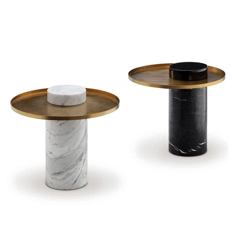 Round White Marble Coffee Table - ivadecorstudio