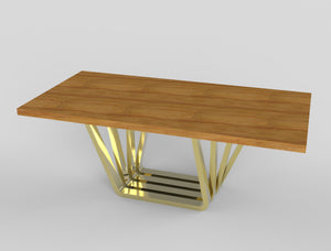 Accordion Live Edge Dining Table Legs - ivadecorstudio