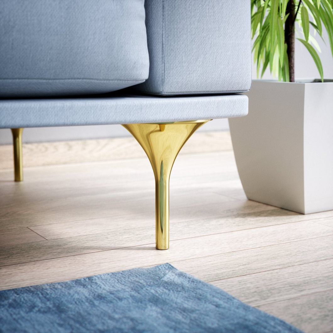 Set of 4 Brass Sofa Legs - ivadecorstudio