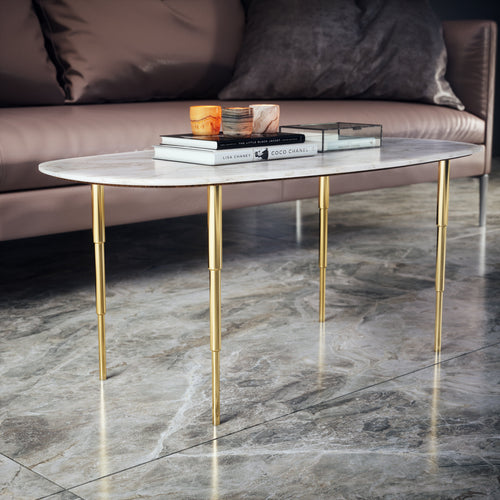 Set of 4 16'' Brass Tapered Coffee Table Legs - ivadecorstudio