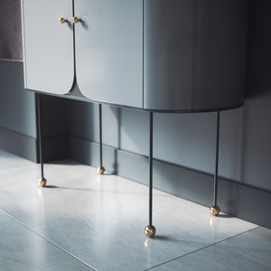 Set of 4 Brass Cabinet and Furniture Legs - ivadecorstudio