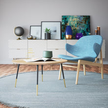 Load image into Gallery viewer, Mid Century 16'' Tapered Brass Furniture Legs - ivadecorstudio