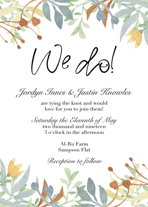 Jordyn Invitation