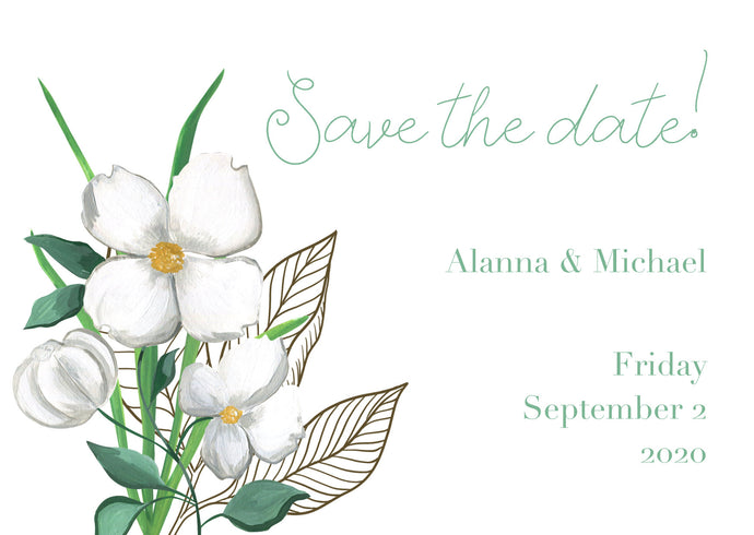 Alanna Save The Date Magnet