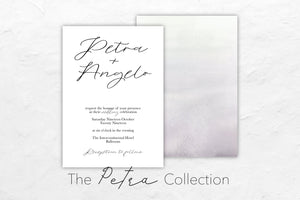 The Petra Collection is whimsical and minimalistic and features a beautiful gradient watercolour design in the back.
