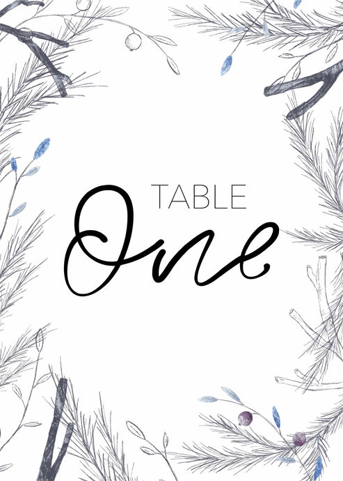 Madeline Table Number