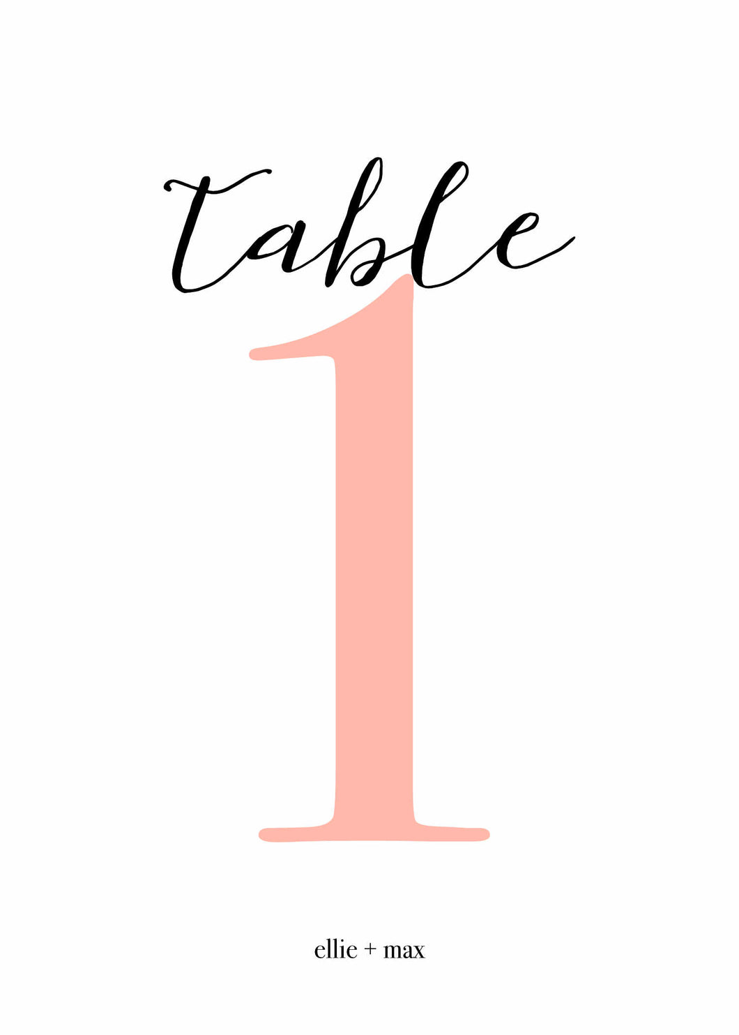 Ellie Table Number