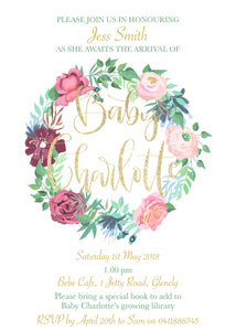Charlotte Baby Shower Invitation
