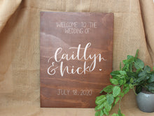 Load image into Gallery viewer, Portrait Wooden Welcome Sign