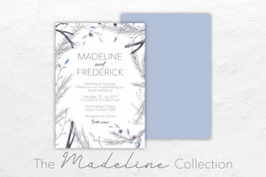 The Madeline Collection has a cool wintery theme featuring purple and blue hues.