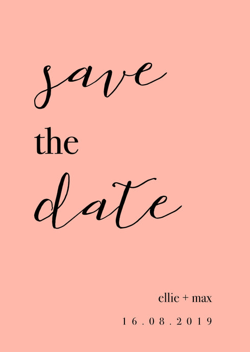 Ellie Save The Date Magnet