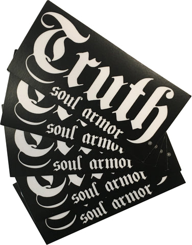 Truth Logo Sticker Pack (5 for $5) - Truth Soul Armor