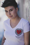 Women's Heart Throb V-Neck - Truth Soul Armor