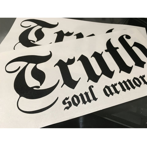 Truth Logo Die Cut Sticker 8""