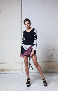 Fia mini wrap skirt