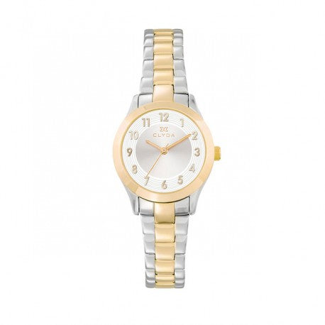 Montre Acier IP Dore Bracelet Bicolore by Clyda