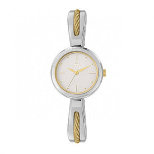 En Mode Indemodable Montre Acier Bracelet Bicolore by Clyda