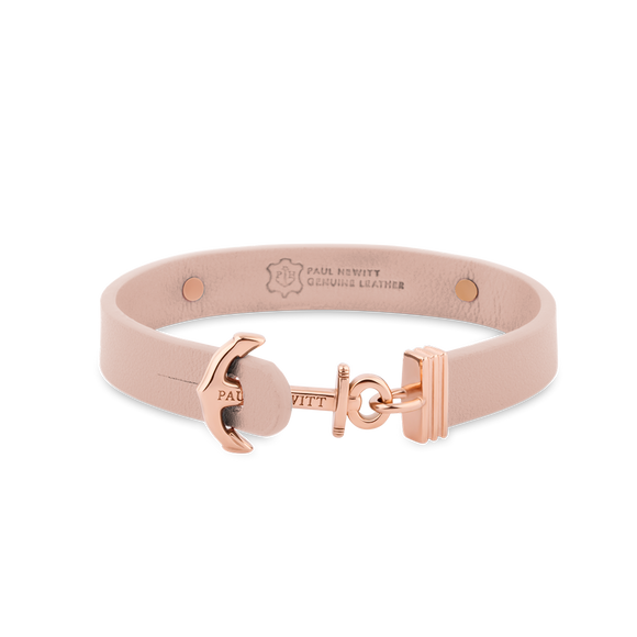Bracelet Ancre Rose Cuir by Paul Hewitt