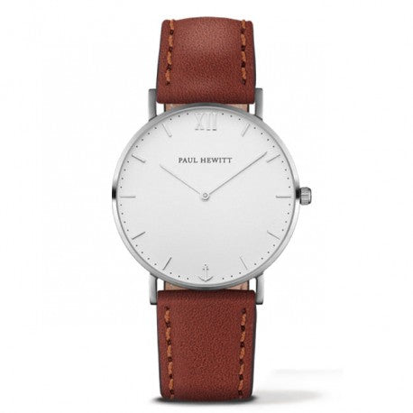 Montre Sailor Line Acier Bracelet Cuir Marron by Paul Hewitt