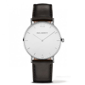 Montre Sailor Line Acier Bracelet Cuir Noir by Paul Hewitt