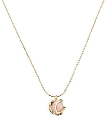 Collier Plaqué Or Quartz Rose by Nina Ricci