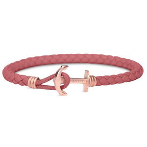 Bracelet Ancre PAUL HEWITT  Rose , cuir Framboise  Taille S