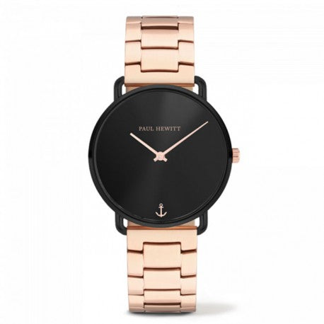 Montre Miss Ocean Acier IP Noir Bracelet IP Rose by Paul Hewitt