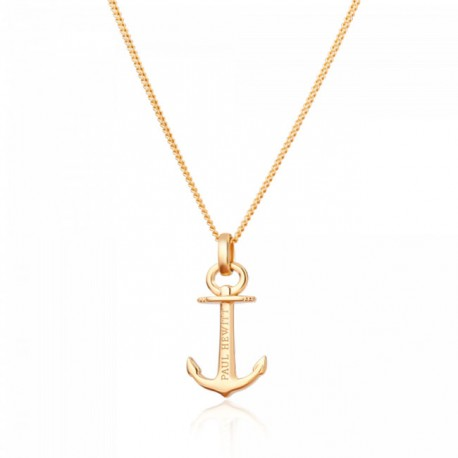 Collier Anchor Spirit Argent IP Dore by Paul Hewitt