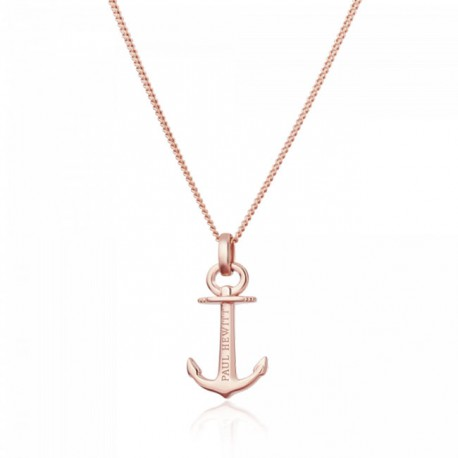 Collier Anchor Spirit Argent IP Rose by Paul Hewitt
