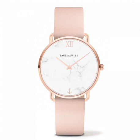 Montre Miss Ocean IP Rose Bracelet Cuir Rose by Paul Hewitt