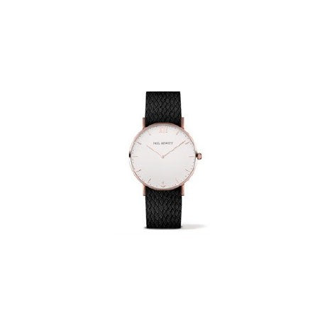 Montre Sailor Line Acier IP Rose Bracelet Perlon Noir by Paul Hewitt