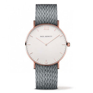 Montre Sailor Line IP Rose Bracelet Perlon Gris by Paul Hewitt