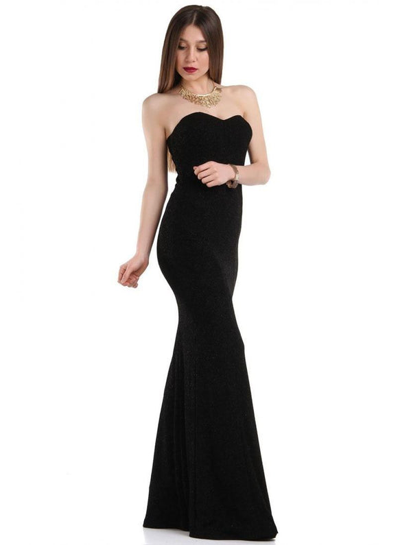 Vavin STRAPLESS LONG DRESS - Black