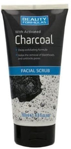 Beauty Formulas with Activated Charcoal Facial Scrub 150ml  سكراب بيوتي فورمولابخلاصة الفحم