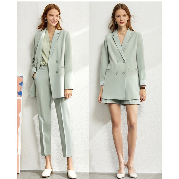 2021 Spring Two Piece Elastic Waist Women Tracksuit Set