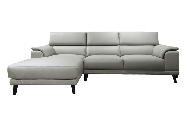 GOSA L-Shape Full Leather Sofa (Left Facing)