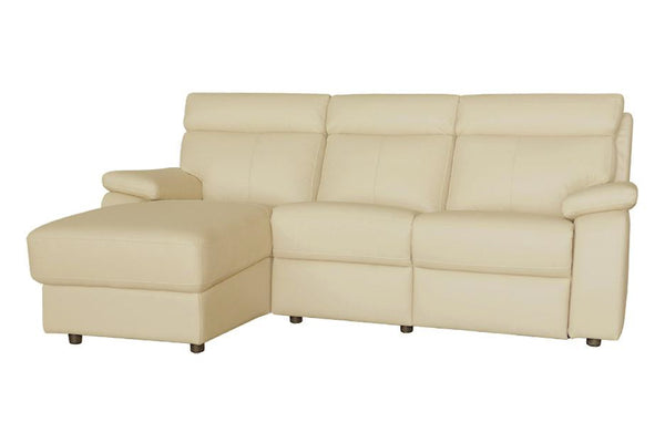 HOJA L-Shape Full Leather Incliner Sofa