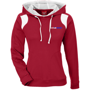 YDKM Sport Logo (ol) - Ladies' Colorblock Poly Hoodie